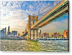 Brooklyn Bridge Acrylic Print by Randy Aveille