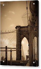 Brooklyn Bridge Span Acrylic Print by Patrick  Flynn