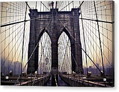 Brooklyn Bridge Suspension Cables Acrylic Print