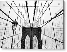 Brooklyn Bridge Acrylic Print by Thank you for choosing my work.