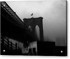 Brooklyn Bridge Through The Windshield Acrylic Print by Todd Fox