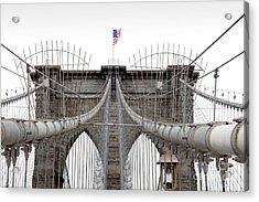 Brooklyn Bridge Top Acrylic Print
