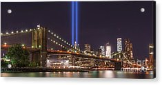 Brooklyn Bridge Tribute In Light Acrylic Print