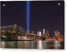 Brooklyn Bridge Tribute In Lights  Acrylic Print