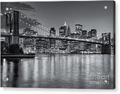 Brooklyn Bridge Twilight II Acrylic Print