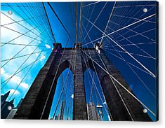Brooklyn Bridge Vertical Acrylic Print by Thomas Splietker
