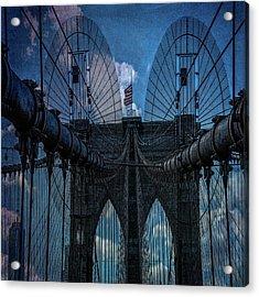 Brooklyn Bridge Webs Acrylic Print by Chris Lord