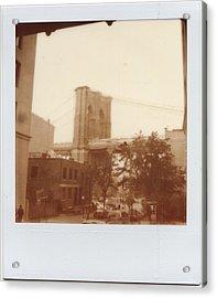 Brooklyn Bridge With Ip Px100 Film Acrylic Print