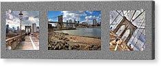 Brooklyn Bridge...triptych Acrylic Print by Arkadiy Bogatyryov