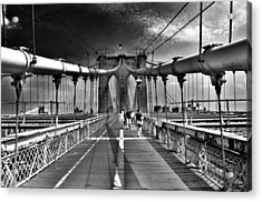 Brooklyn Brige Acrylic Print by Andrew Dinh