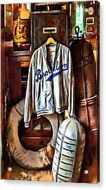 Acrylic Print featuring the photograph Brooklyn Dodgers Baseball  by Thom Zehrfeld