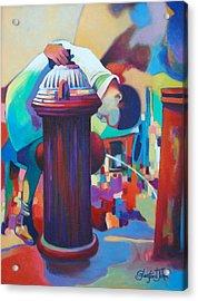 Brooklyn  Fountain Acrylic Print