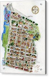 Brooklyn Heights Map Acrylic Print