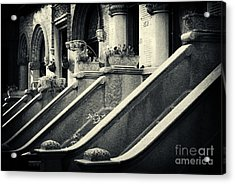 Brooklyn Park Slope Stoops Acrylic Print by Sabine Jacobs