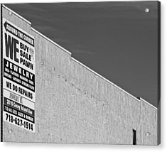 Brooklyn Pawnshop Sign Acrylic Print by Robert Ullmann