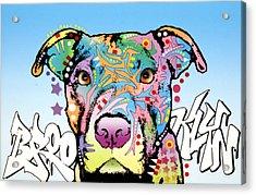 Brooklyn Pit Bull 2 Acrylic Print by Dean Russo Art