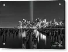 Brooklyn Sticks September 11th Memorial Bw Acrylic Print