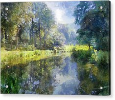 Acrylic Print featuring the digital art Brookside by Francesa Miller