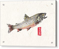 Brooktrout Spawn Color #br0004 Acrylic Print