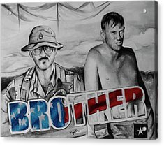 Brother Acrylic Print by Laura Taylor