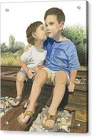 Brotherly Love Acrylic Print by Ferrel Cordle