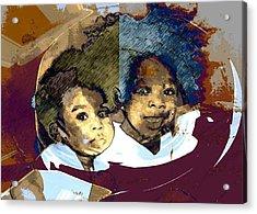 Brothers 1 Acrylic Print by LeeAnn Alexander