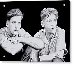 Brothers Acrylic Print by Ferrel Cordle