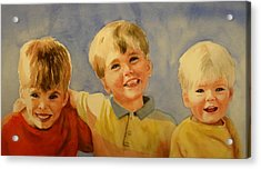 Brothers Acrylic Print by Marilyn Jacobson