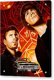 Brothers Winchester Acrylic Print by Al  Molina