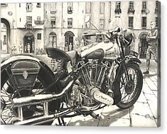 Brough Superior Ss 100 Acrylic Print by Norman Bean