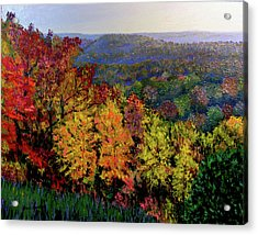 Brown County Autumn Acrylic Print by Stan Hamilton