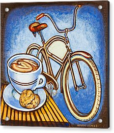 Brown Electra Delivery Bicycle Coffee And Amaretti Acrylic Print