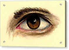 Brown Eye Acrylic Print by Michael Vigliotti