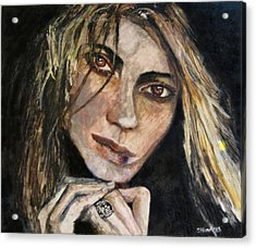Brown Eyed Girl Acrylic Print by Penfield Hondros