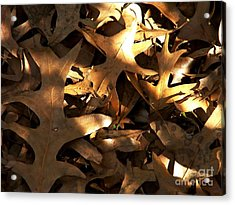 Brown Leaves And Sunlight Acrylic Print