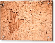 Acrylic Print featuring the photograph Brown Paint Texture by John Williams