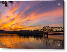 Browns Bridge Sunset Acrylic Print