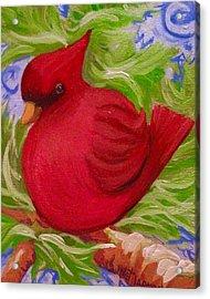 Brrr Bird Acrylic Print