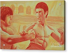 Bruce And Chuck Acrylic Print by Derek Donnelly