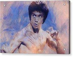 Bruce Lee Art Acrylic Print by Dan Sproul