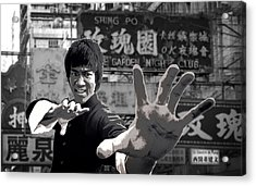 Bruce Lee Founder Of Jeet Kune Do Acrylic Print