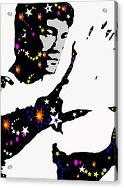 Acrylic Print featuring the drawing Bruce Lee Moving His Hands by Robert Margetts