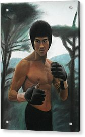 Bruce Lee - The Concentration  Acrylic Print