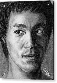 Bruce Lee Acrylic Print by Walter Israel
