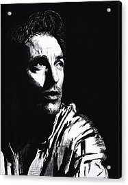 Bruce Acrylic Print by Mary Anne Hjelmfelt