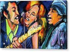 Bruce Patty And Stevie Acrylic Print