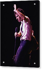 Bruce Springsteen 1980 Acrylic Print by Chris Walter