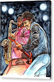 Bruce Springsteen And Clarence Clemons Acrylic Print