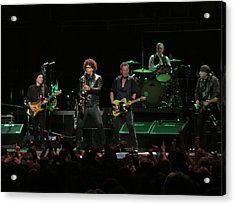 Bruce Springsteen And The E Street Band Acrylic Print by Melinda Saminski