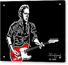 Bruce Springsteen Acrylic Print by Dave Gafford